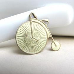 Cream Antique Bike Charm, Antique Bike Pendant, Cream